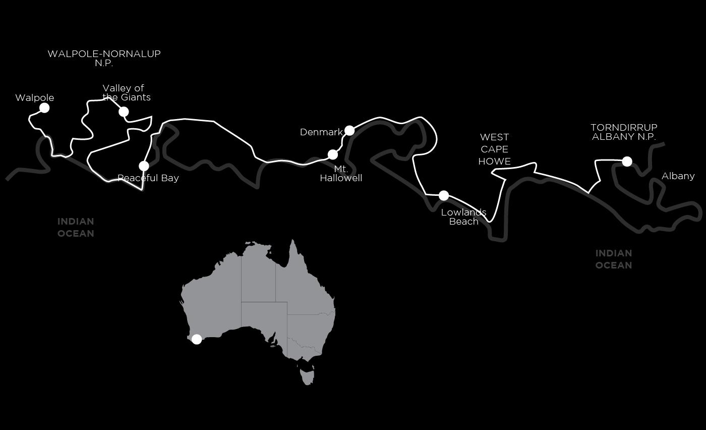 Bibbulmun-Track-Self-Guided-Walking-Map