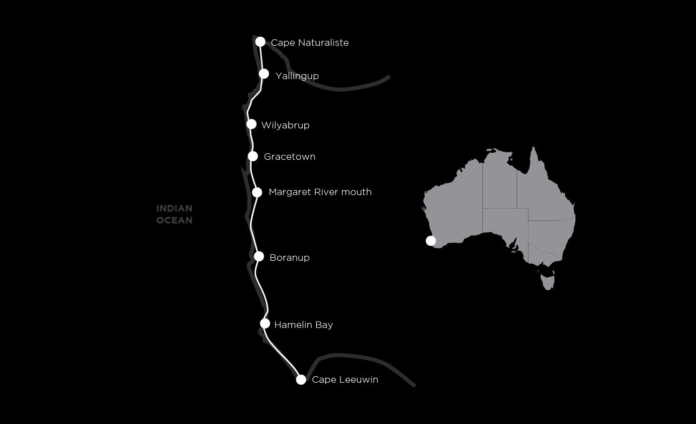 Cape to cape group guided walk map