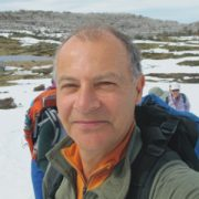 Portrait photo of Auswalk walking holiday guide Gavin Scott on a Snowy Mountains hike
