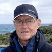 Auswalk guide Hugh Mactier walking the three capes trail in Tasmania