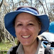 Auswalk walking tour guide Marie Killeen on a hike in Tasmania
