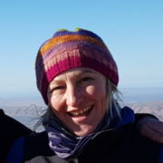 Portrait photo of Auswalk guide Kat Cullen guiding on the Larapinta Trail